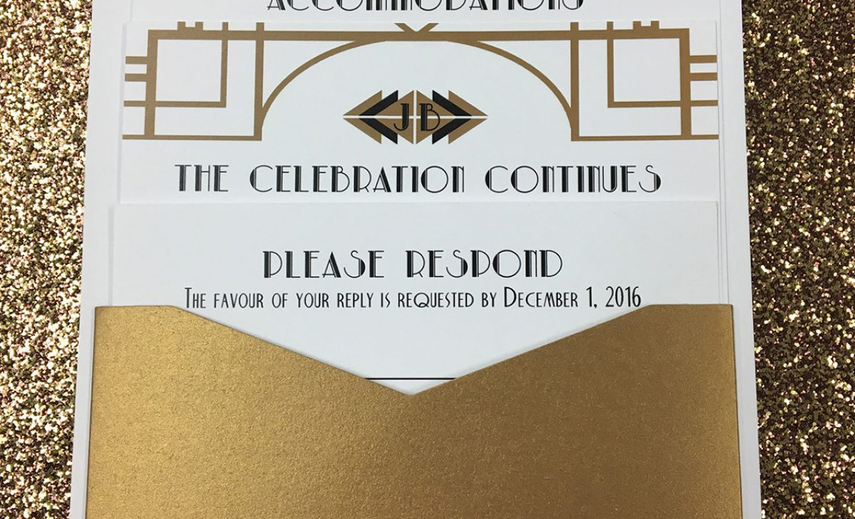 Custom Invitations with an Art Deco Theme