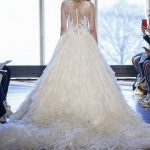 ball gown with tattooed lace