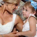 Bride with her flower girl