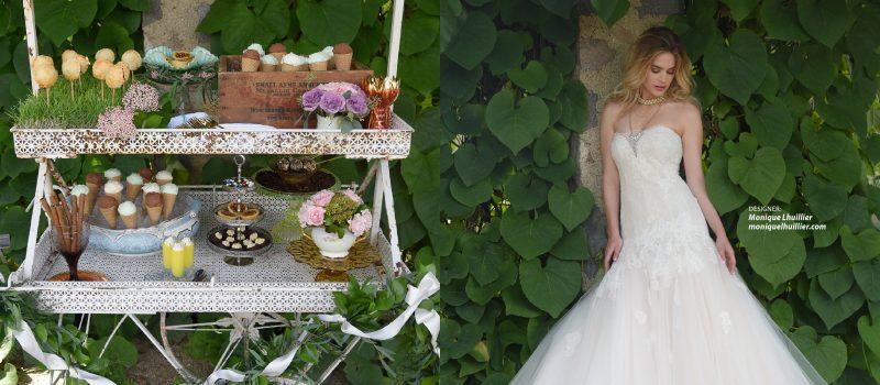 Wedding gown by Monique Lhuillier
