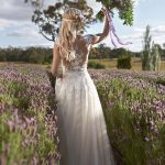 The Nicole Spose gown with lace backing