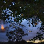 hanging lights for outdoor reception