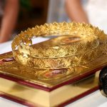 Maronite gold wedding crowns