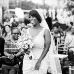 Beautiful African-American bride marries in Dallas