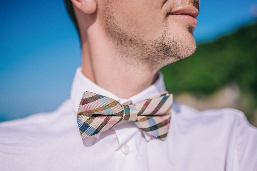 Groom wearing a bowtie
