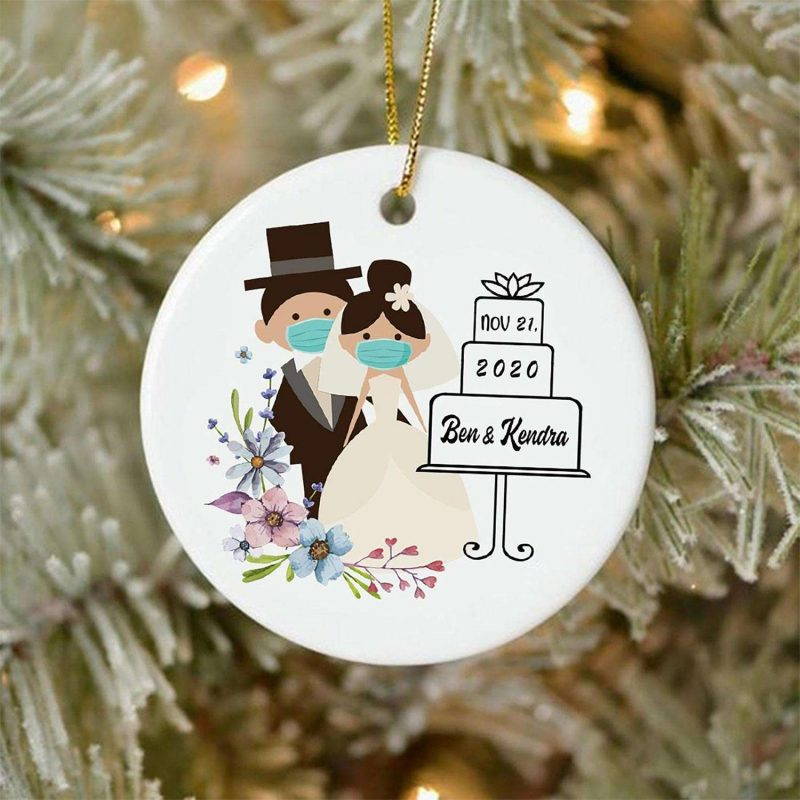 Married During Quarantine Holiday Ornament